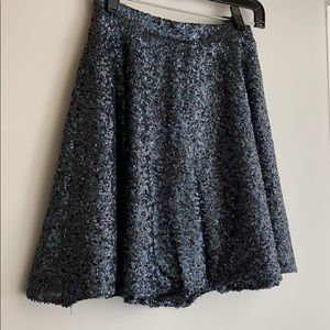 Sequin topshop zip skirt